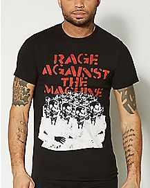 Rage Against The Machine Gas Masks T shirt