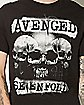 Open Mind Skulls Avenged Sevenfold T shirt