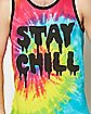 Tie Dye Stay Chill Tank Top