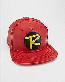 Faux Leather Robin Snapback Hat