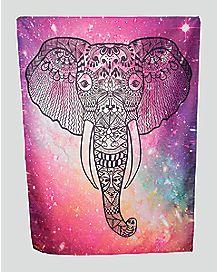 Galaxy Elephant Festival Blanket