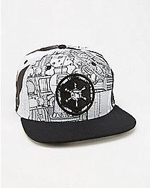 Sublimated Star Wars Death Star Snapback Hat