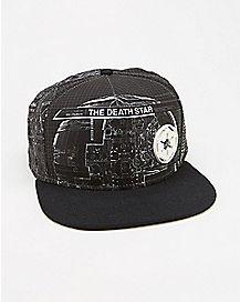Sublimated Star Wars Death Star Snapback Hat Black