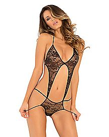 Stage Door Lace Halter Teddy