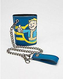Vault Boy Fallout Bifold Chain Wallet