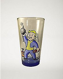 Bomb Vault Boy Fallout Pint Glass