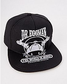 Dr. Eggman The World Is Mine Dr. Eggman Snapback Hat -Sonic the Hedgehog