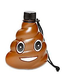 Smiley Poop Face Molded Flask 10 oz