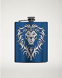 Lion World Of Warcraft Flask 8 oz