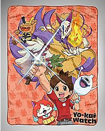 Mysterious Yo-Kai Watch Fleece Blanket