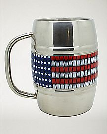 American Flag Beer Mug  32 oz