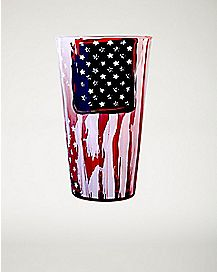 Ombre American Flag Pint Glass 16oz