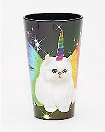 Cat Unicorn Butterfly Pint Glass 16 oz