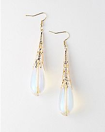 Crystal Ornate Dangle Earrings