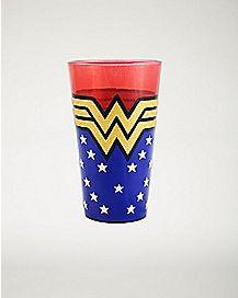 Glitter Wonder Woman Pint Glass 16 oz