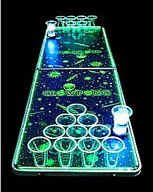 Glowing Alien Beer Pong Table - 6.5 ft
