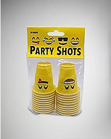 Silly Face Party Mini Shot Glasses 20 pack
