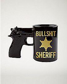 Gun Bullshit Sheriff Mug - 20 oz.
