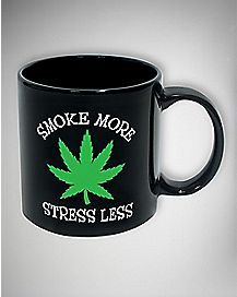 Smoke More Stress Less Mug 20 oz.