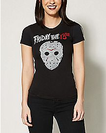 Jason Mask Friday The 13th T shirt