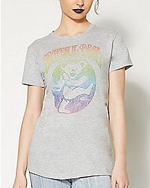 Rainbow Bear Logo Grateful Dead T Shirt