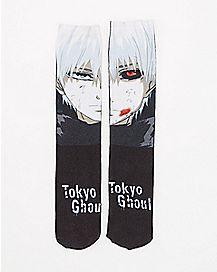 Split Face Tokyo Ghoul Crew Socks