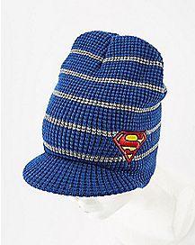 Superman Visor Beanie Hat
