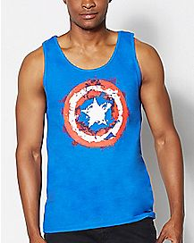 Splatter Captain America Tank Top