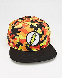 Camo The Flash DC Comics Snapback Hat