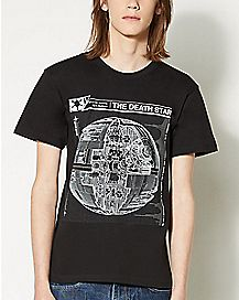 Star Wars Death Star Blueprint T shirt
