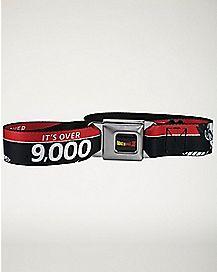 Over 9000 Dragonball Z Seatbelt Belt