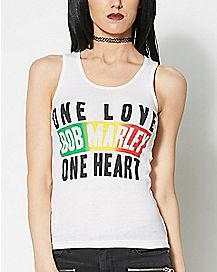 One Love One Heart Bob Marley Tank