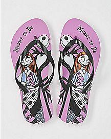 Nightmare Before Christmas Disney Flip Flops - Womens