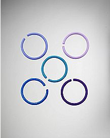 Teal & Purple Seamless Hoop 5 Pack - 20 Guage