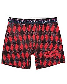 Argyle Zombie The Walking Dead Boxer Briefs