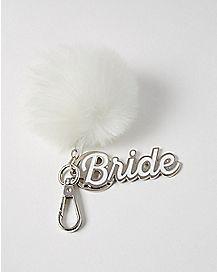 Bride Pom Pom Keychain