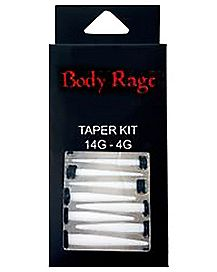 Ear Taper 6 Pack 14 Gauge - 4 Gauge Acrylic White