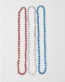 Star Necklace 3 Pack- Red White Blue