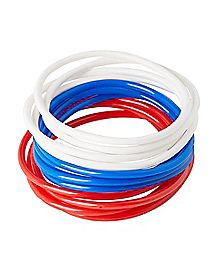 Colored Rubber Bracelet 12 Pack