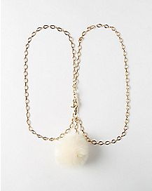 Puff Ball Wallet Chain - Gold