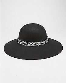 Tribal Print Band Floppy Hat