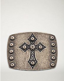 Studded Cross Belt Buckle