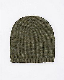 Green Marbled Beanie Hat
