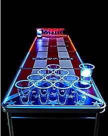 Glowing Americana Beer Pong Table - 8 ft