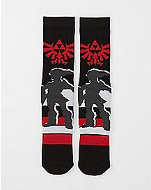 Shadow Link Crew Socks - The Legend Of Zelda
