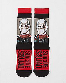 Sublimated Deadshot Suicide Squad Crew Socks