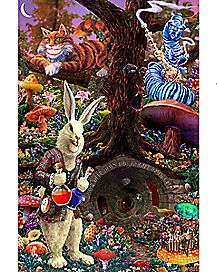 Down the Rabbit Hole Alice in Wonderland Poster