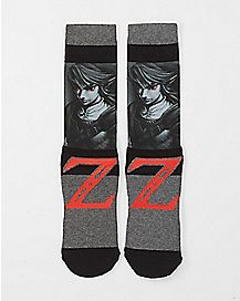 Shadow Link Sublimated Crew Socks - The Legend Of Zelda