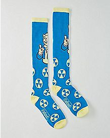 Winking Vault Boy Fallout Knee High Socks