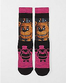 Sublimated Crew Socks - Five Nights At Freddy's